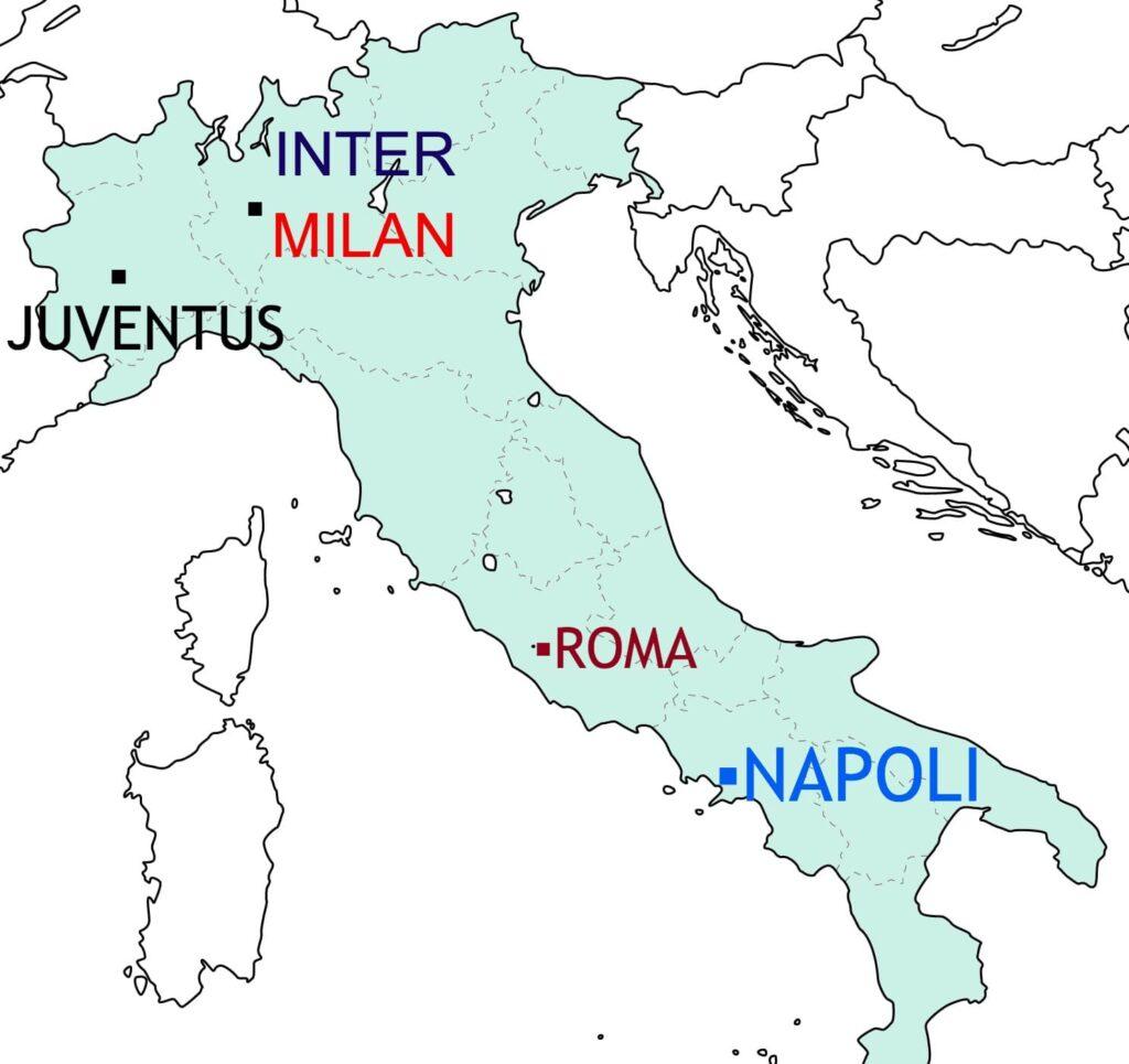 イタリアの地図の画像